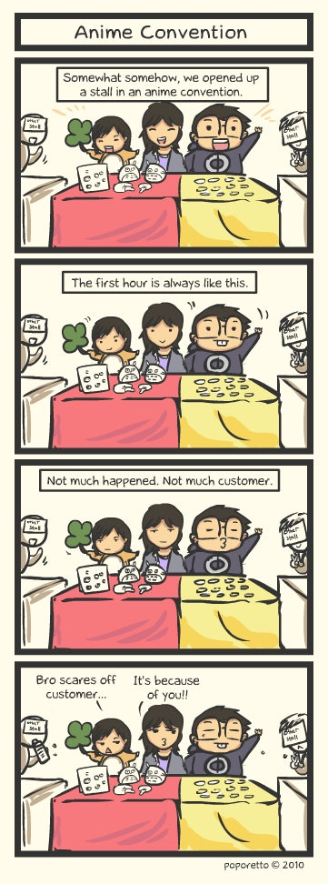 anime convention comic strip