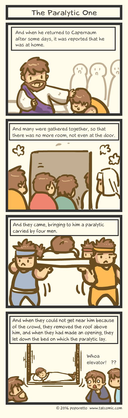 Comic strip about abiding in christ