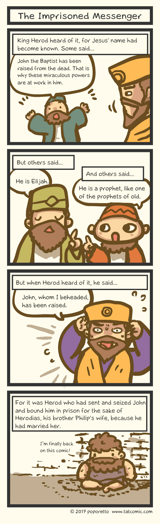Bible comic Gospel Christian comic strip Jesus Christ and herod and john the baptist