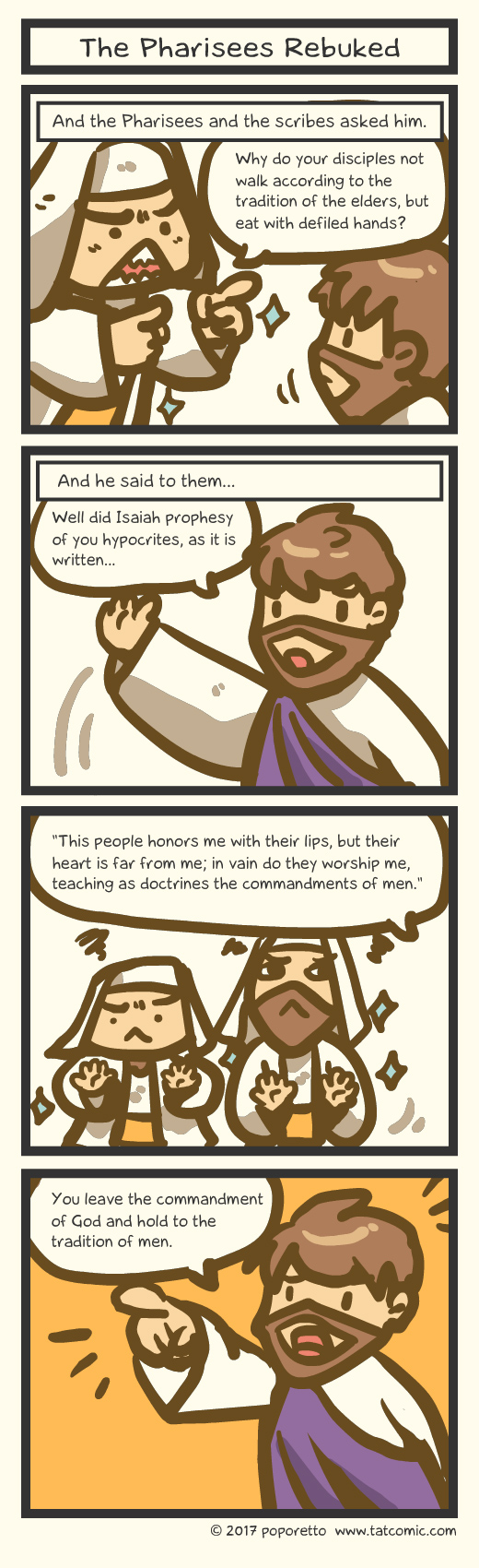 Book of Mark – Jesus Rebuked The Pharisees