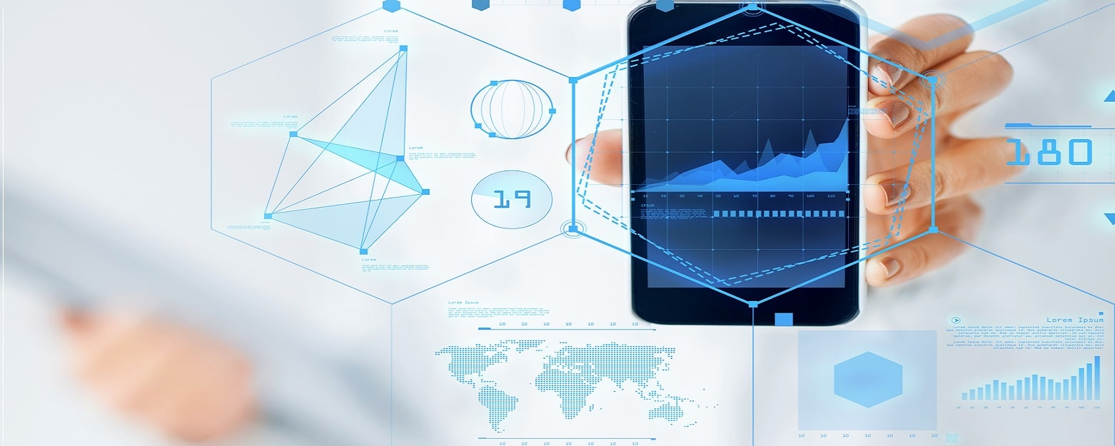 Digital marketing analytics and view of target market on smartphone