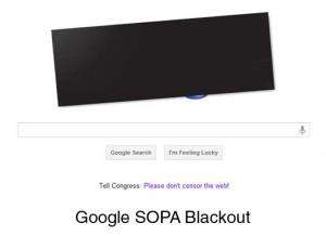 Google SOPA Blackout