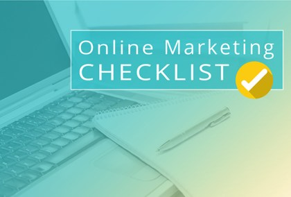 Online Marketing Checklist