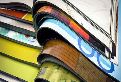 multi-dimensional printed material