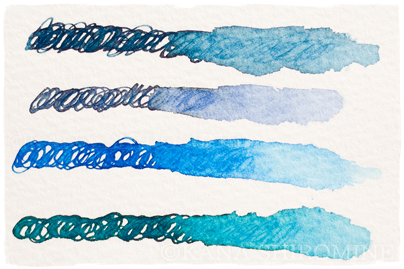 万年筆でイラストを描くのが楽しい話【カクノ透明軸】