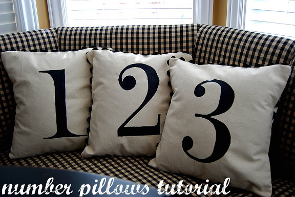 Pottery Barn – inspired Number Pillows & a Giveaway!!