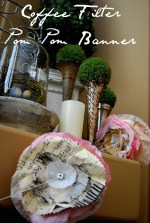 Valentine Project: Coffee Filter Pom Pom Banner
