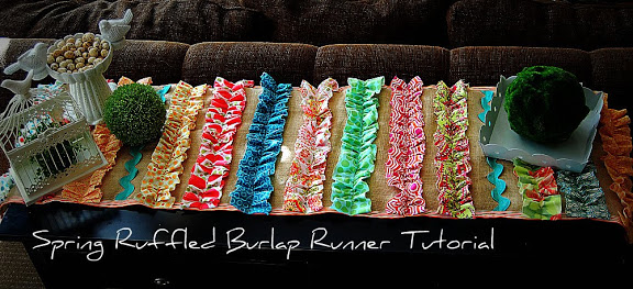 Spring Project: Ruffled BURLAP Runner