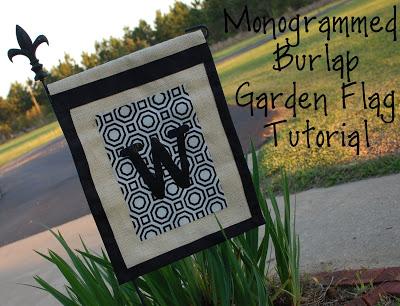 Guest Project: Monogrammed Burlap Garden Flag Tutorial