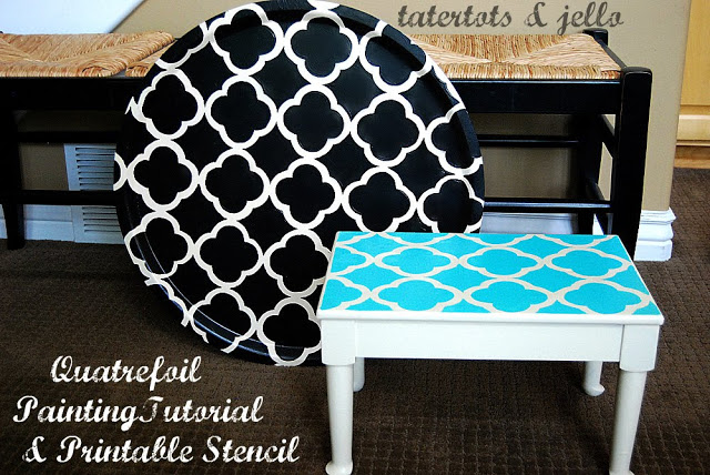 Quatrefoil Painting Project — with free printable