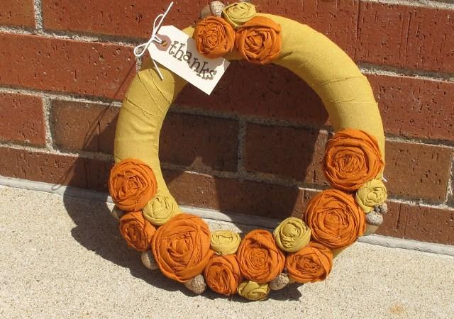 Guest Project — make an Autumn Rosette Wreath!