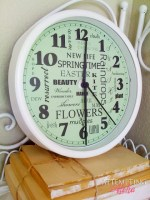Guest Project — Make a Spring Subway Art CLOCK {with free printable}