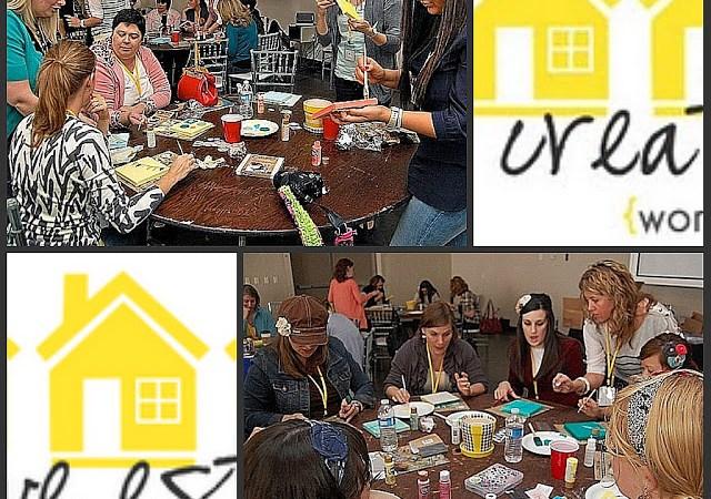 Getting Creative at Creative Estates — Spring Bunting Canvas!!