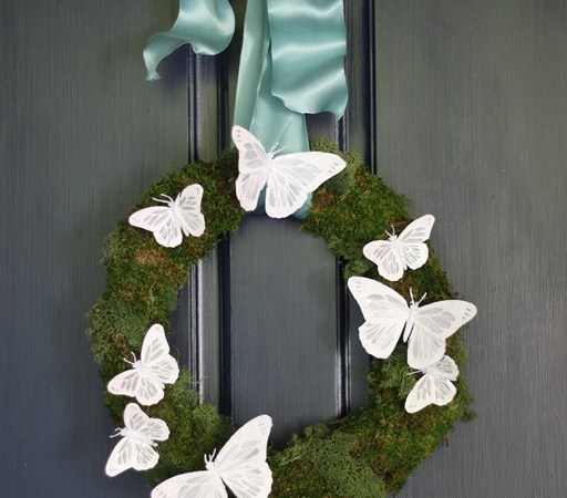 Pottery Barn-inspired Spring Butterfly Wreath!!
