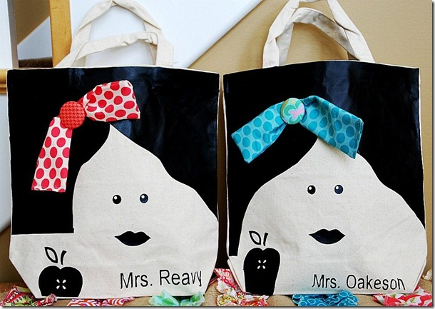 Teacher Appreciation Gift Idea — Make Personalized Tote Bags!!