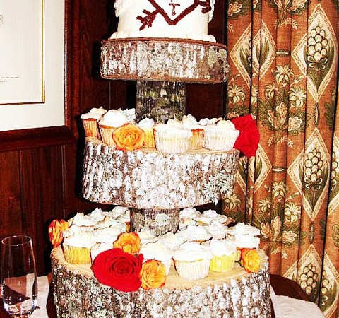 Guest Project — Throw a Rustic Wedding & make a DIY Tree Cupcake Stand {tutorial}