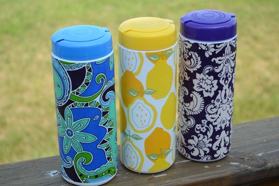 """Summer Social"" Guest Project -- Make an Embellished Grocery Bag Container!! {great item to keep in your car}"