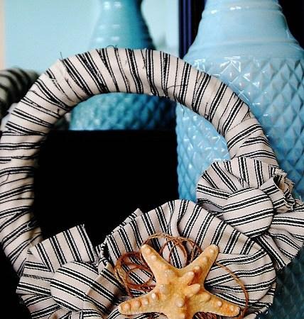 Summer Wreath and Mantel {tutorial}