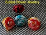 Make Summer Fabric Rosette Jewelry!! {tutorial}