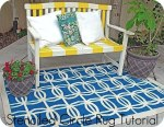 Stenciled Circle Rug Tutorial {Spray Paint Project}
