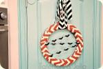 Halloween Chevron Wreath {tutorial}!!