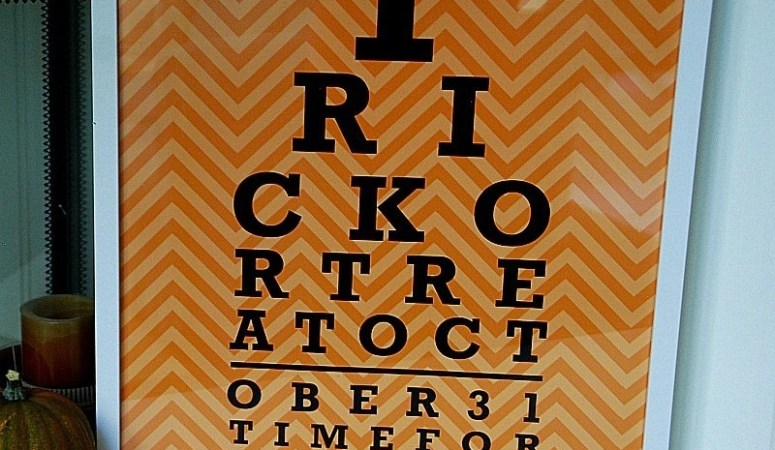 Halloween Eye Chart Pillow & Printable!! {plus file sizes to print it BIG!}