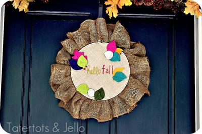 Fall Embroidery Hoop Door Hanging {tutorial}!!