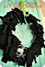 Make a $4 Halloween T-Shirt Wreath {Dollar Store tutorial}