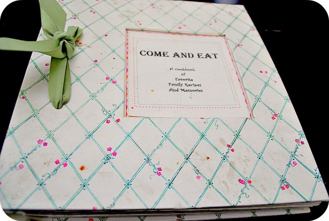 treasured family recipe book