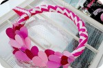 Valentine's Day ♥ Chevron & Sparkle Wreath (tutorial)
