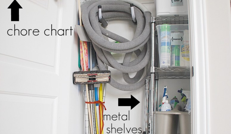 Getting Organized in 2012 — Organizing Cleaning Supplies and Free Label Printables!