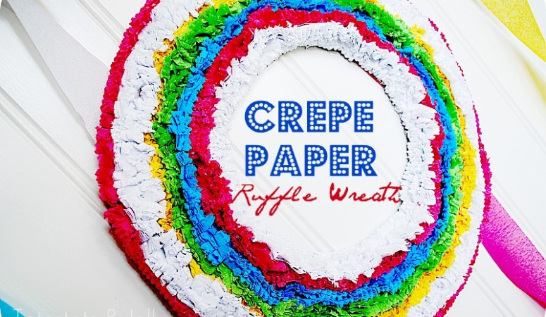 Make a Crepe Paper Ruffle Wreath & Party Vignette!! (tutorial)