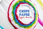 Make a Crepe Paper Ruffle Wreath & Party Vignette!! (tutorial)