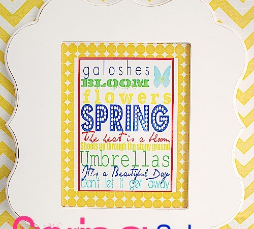 """Beautiful Day"" Spring Subway Art (free printable)"