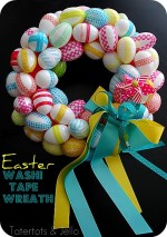 Make a Washi Tape Spring Egg Wreath!