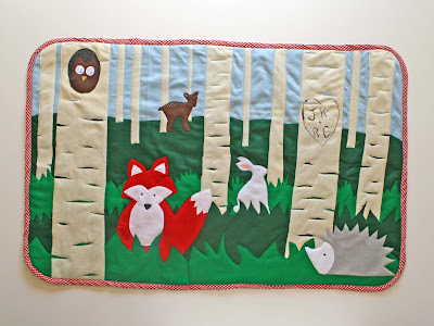 Make a Whimsical Felt Rug (with template)