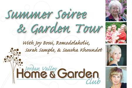 Jordan Valley Home and Garden Summer Soiree & Ticket Giveaway!!