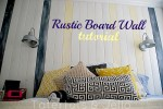 How to Make a Rustic Board Focal Wall (Nautical Bedroom)