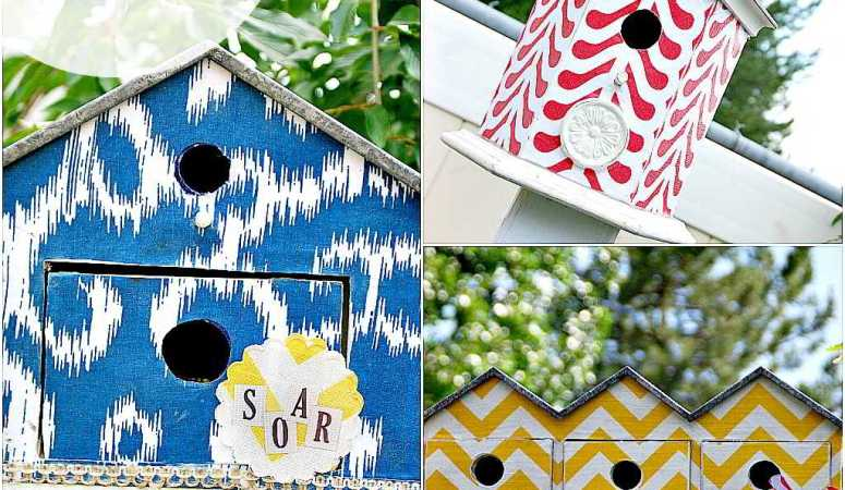Make Fabric-Covered Birdhouses — using Outdoor Mod Podge!
