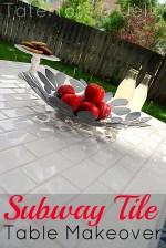 DIY Subway Tile Table Redo!!