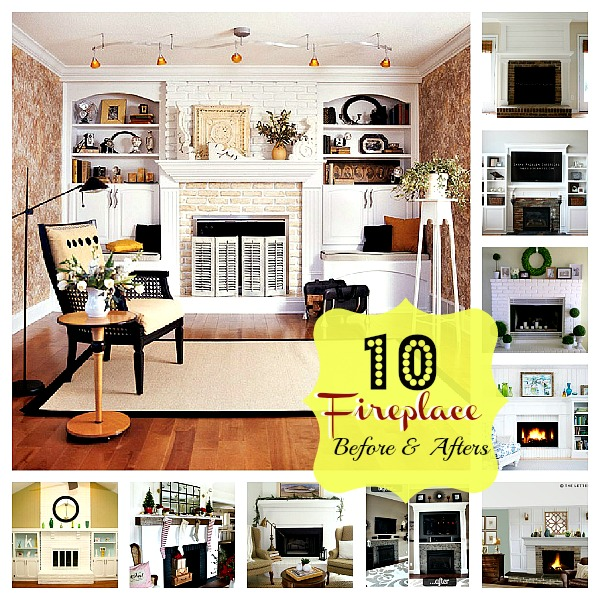 10 Fabulous Fireplace Before and After Projects!