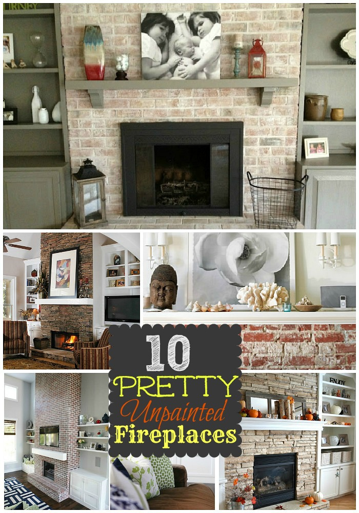 10 Brick and Stone Fireplaces