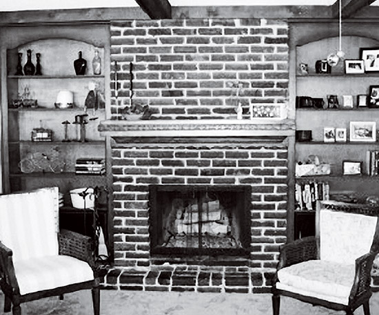 brick fireplace before and after