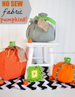 It's Pumpkin Week — Make No Sew Fabric Pumpkins!