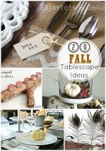 Excellentes idées - 20 idées d'automne pour le paysage de table et la pièce maîtresse