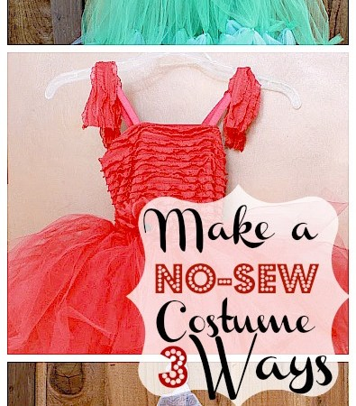 Make a No-Sew Halloween Costume for $20 (Mermaid, Princess or Fairy)!