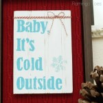 HAPPY Holidays — DIY Winter Shadowbox Sign