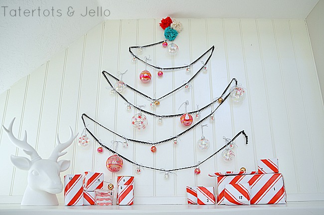 Holiday Project — Painted Glass Advent Calendar and Pom Pom Tree