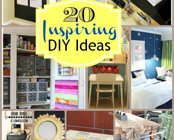Great Ideas — 20 Home DIY Ideas!!