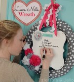 Make a Love Note Wreath (Valentine's Day Project)